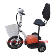B&Y 350-750W Three Wheel Electric Scooter with Seat