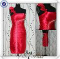 pp2567 amostra real frisado curto vestido da dama de honra 2013