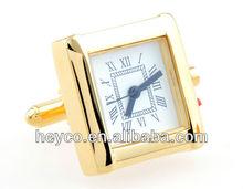 HEYCO golden functional watch movement mechanism cuff links cufflinks