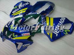 CBR600 99 00 F4 Fairings Kit for Honda cbr 600 CBR600F4 1999-2000 CBR600 99 00 CBR600RRF4 CBR 600 F4 blue green yellow movistar