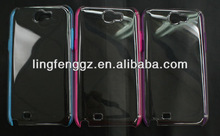 simple style and cheap mobile translucent case for samsung galaxy note 2 n7100