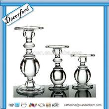 HOT Sale Elegant Handmade Tall family glass candlestick