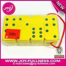 Yellow EVA foam printed dominos