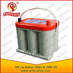 Manufacturer supply MF 12V lead acid car battery