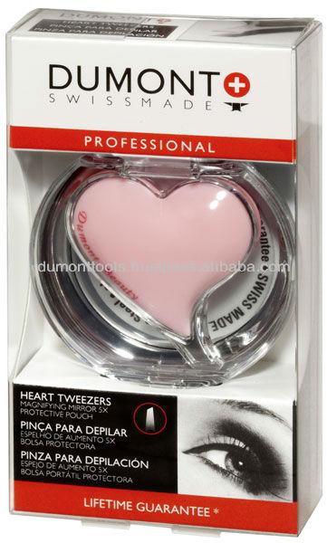 PROFESSIONAL COSMETIC PINK HEART EYEBROW TWEEZERS