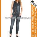 Nova moda de estilo jeans macacões para as mulheres por atacado denim jumpsuit mulheres ( HYW900 )
