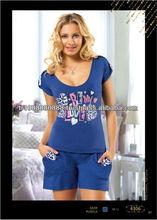 Pijamas de algodón, de seda para las mujeres