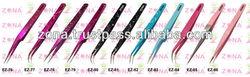 Speckled Pink Colored Eyelash Extension Tweezers / Straight Eyelash Extension Tweezers