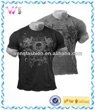 Men's Burnout Cotton Body Building T Shirt