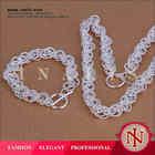 2014 simple design bijoux spanish beautiful jewelry set LKNSPCS040