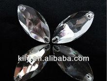 crystal jewlery oval sew on stone