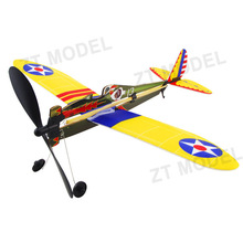Aviator-Boeing P26 Rubber Band Powered Aircraft Model Airplane Model