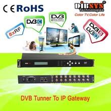 IRD1218S 8 in 1 fta digital satellite receiver DVB-S2 rf to ip gateway