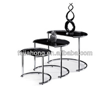 2014 3 sets glass end table