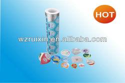 PE/PET/PP embossed Yogurt Cup Aluminum Foil Cover / lid