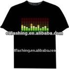 el sounds active t-shirt,el flashing t-shirt,more than 200 kinds logo