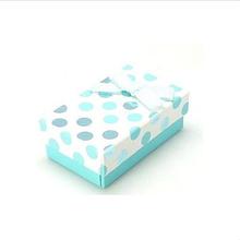Jewellery Gift Boxes, Blue & White Polka dot Boxes