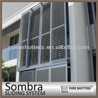 Sombra sliding door decorative exterior Aluminum Shutter