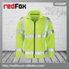 hi vis men yellow security fleece jacket