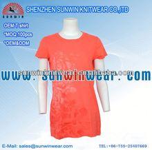 China factory women printing t shirt 130 gsm/t-shirts for women china
