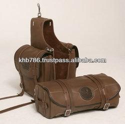 Motorcycle Leather Saddle Bag , Horse saddle bag
