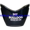 black custom wine bucket