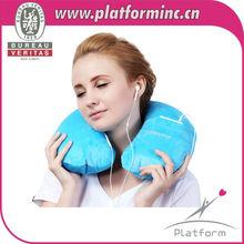 wholesale U Neck travel pillow/ U shape washable and removable inflatable beach cushion