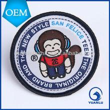 2012 Hotsale iron-on custom velcro military china woven label