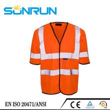 Men's reflective tape workwear working vest