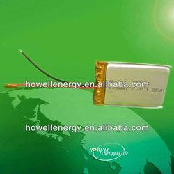 gps /gps tracker battery 3.7v li polymer battery with 500mah