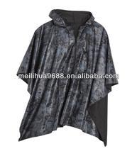 Fashion Black Good Quality Waterproof Outdoor Rain Poncho