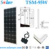 high efficiency TUV IEC Certified 95W monocrystal solar panel