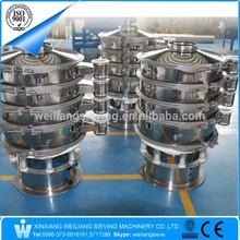 pvc resin vibrating screen/powder rotary vibrating sieve/powder separating sifter machine