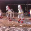 Outdoor Fiberglass Horse Statues Sculpture