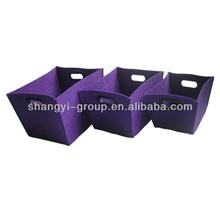(SR-12LMS)2014 Fashionable Felt Container/felt storage box