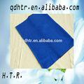 Viscose e polyster azul de malha Jersey simples