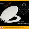 Yaxing F7083 stainless steel hinges custom MDF toilet seat