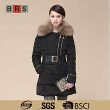 2015 Big Real Fur Collar latest coat designs for women coat women's coat