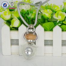 8ml Transparent empty glass car scent bottle, Fashion car scent