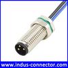 Male panel mounting m8 3 pin sensor connector