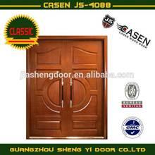 Solid wood lobby door / entry door