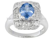 Tanzanite, Topaz Fine Sterling Silver Jewelry In India
