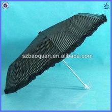 lovely lace lady anti-uv sun umbrellas /transparent handle umbrella