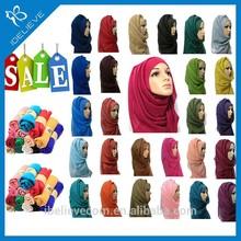 2015 Hot selling fashion women muslin hijab scarf