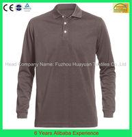 Custom Design 100% polyester 100% cotton polo shirt long sleeve(6 Years Alibaba Experience)