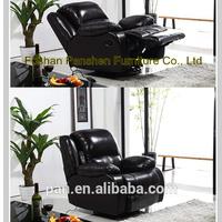 blue leather reclining sofa