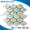 Rombo decorativo del azulejo de cerámica de malla hacia atrás ventanal mosaico elegante estilo patrón mural mm czg606ha. 285x273mm mosaico