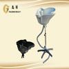 protable salon equipment shampoo basin with wheels