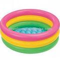 3-anel redondo inflável do sol brilhar piscina