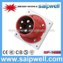 2014 IP44 CEE/IEC International Standard 3P+N+E(5P) electric socket plug cover
